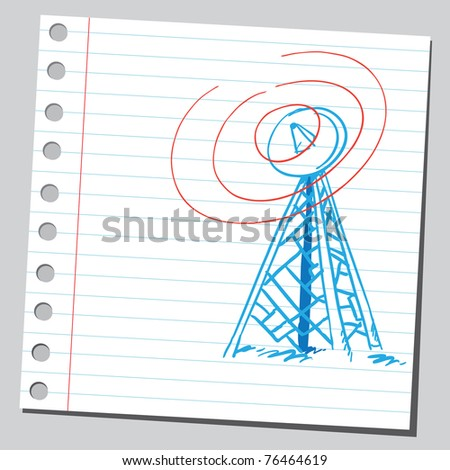Drawing of a radio antenna
