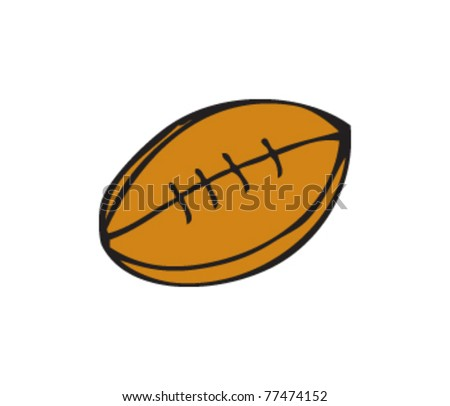 Drawing of a rugby ball
