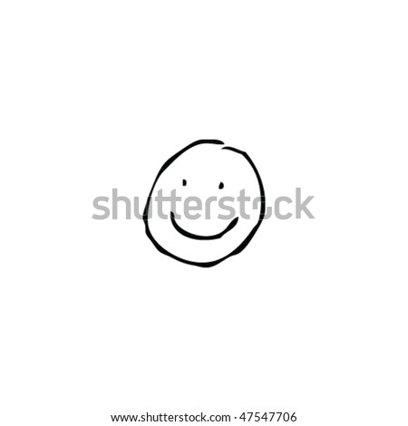 drawing of a smiley face