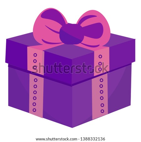 PrintCanvas - Drawing of a square gift box wrapped with blue