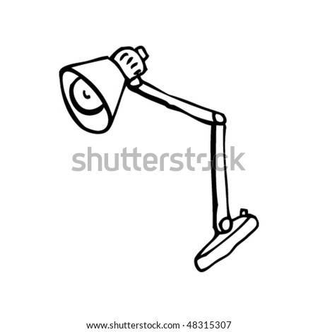drawing of a work lamp