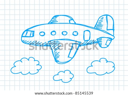 drawing of aircraft