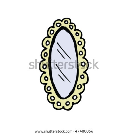 ornate hand mirror drawing. Ornate Hand Mirror Drawing