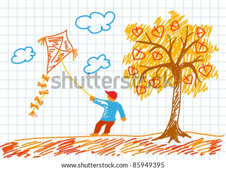 Autumn Season Drawing Drawing of Autumn Landscape