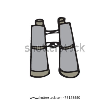 Drawing of binoculars