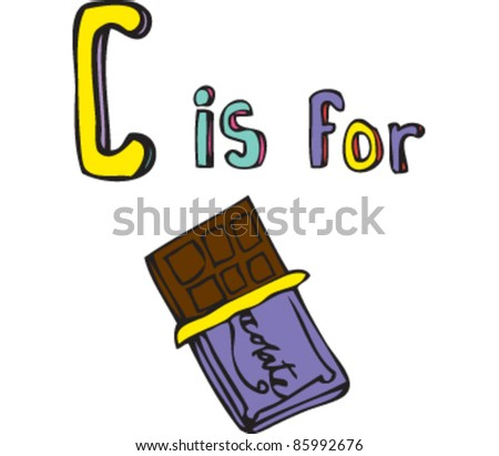 Drawing of letter 'C is for' chocolate