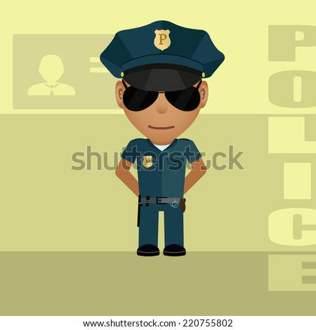 drawing of policeman in style