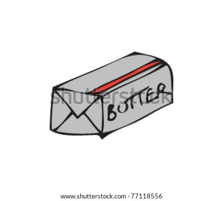 Drawing Of Some Butter Stock Vector Illustration 77118556 ...