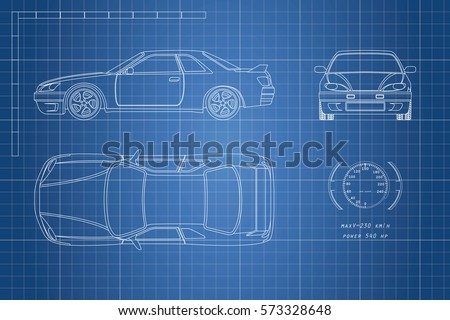 Car front and side view silhouettes download free vector art drawing of the car on a blue background top front and side view malvernweather Images