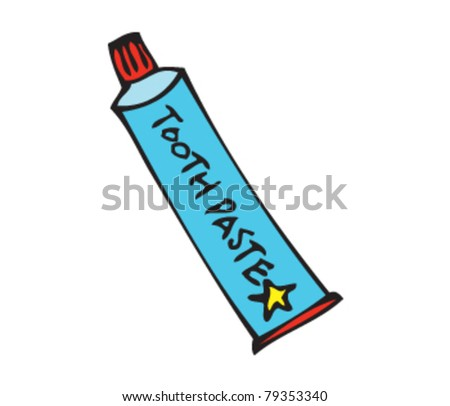 Drawing Of Toothpaste Stock Vector Illustration 79353340 ...