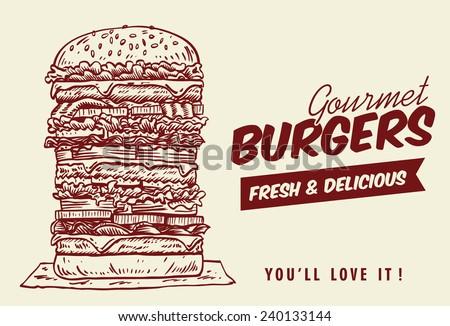 drawing of tower hamburger
