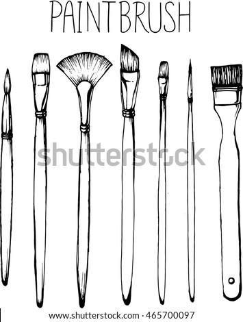 drawing paintbrush. paintbrush clip art  or illustration.