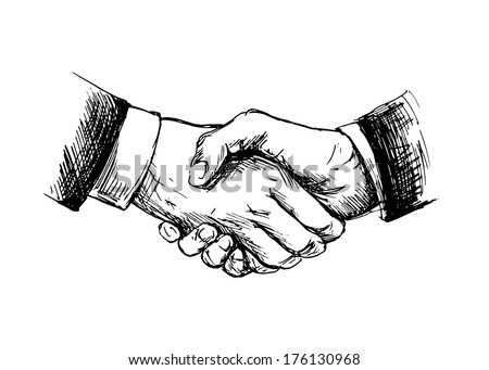 Vector Images Illustrations And Cliparts Drawing Shake Hands
