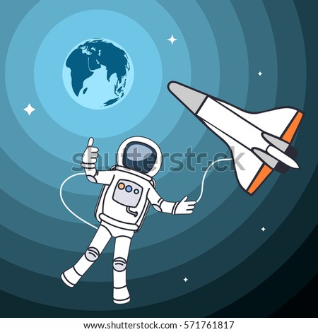 drawing the astronaut in an
