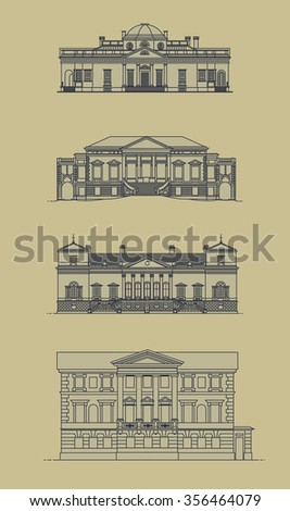 drawing the facades of old