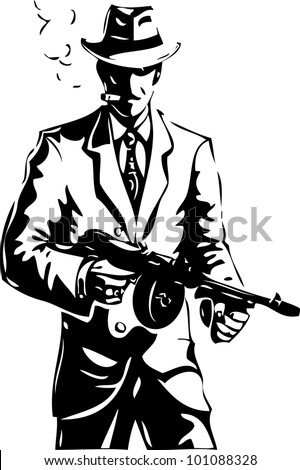 drawing   the gangster   a mafia