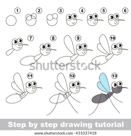 how to draw a grasshopper step by step easy