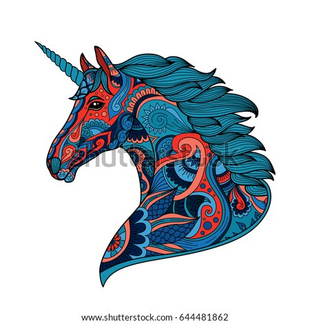 Unicorn Line Drawing - Download Free Vector Art, Stock Graphics & Images