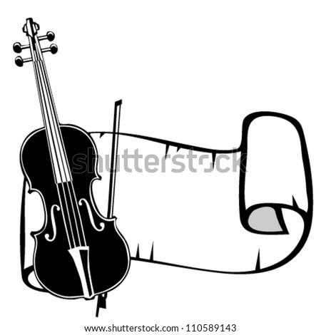 White Violin Drawing Drawing Violin