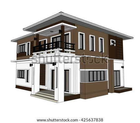 Awesome Drawings, 3D Home Design Construction