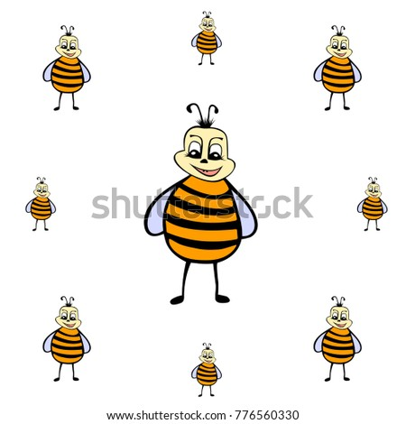 drawn cartoon bee background