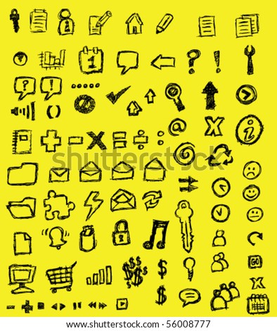 drawn icons