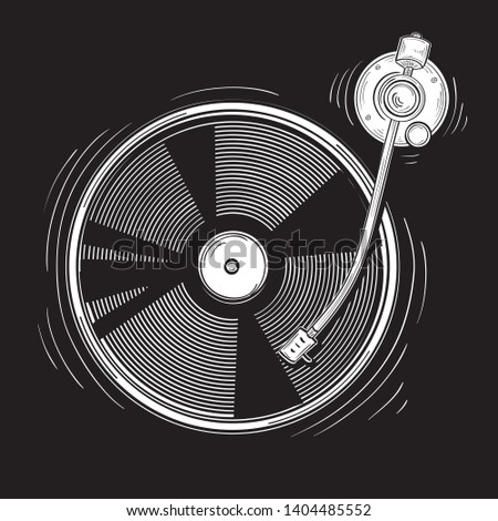 drawn monochrome funky musical