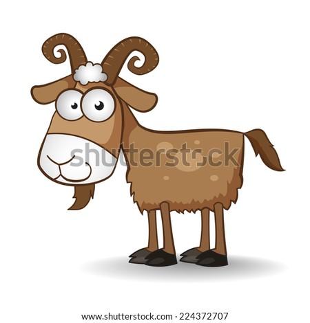 drawn vector goat