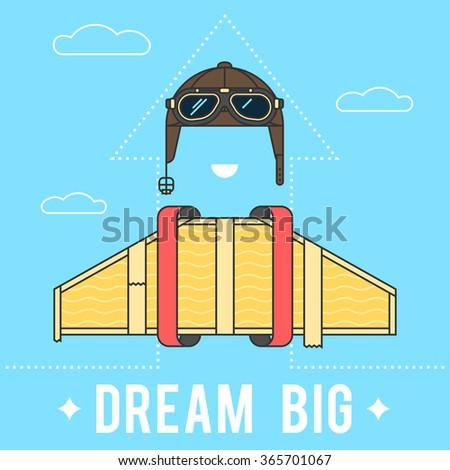 dream big concept   cardboard