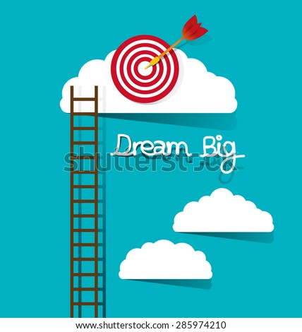 dream big concept vector