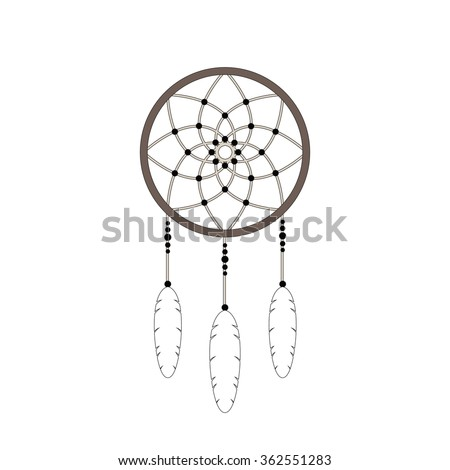 royalty free vector dream catcher silhouette for 386034985 stock