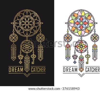 dream catcher icons in linear