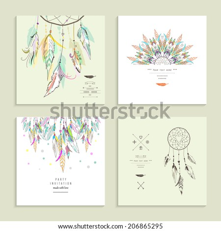 dream  catcher set of four