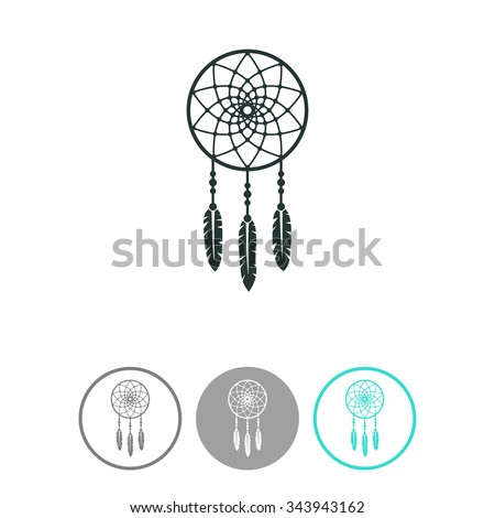 dream catcher vector icon