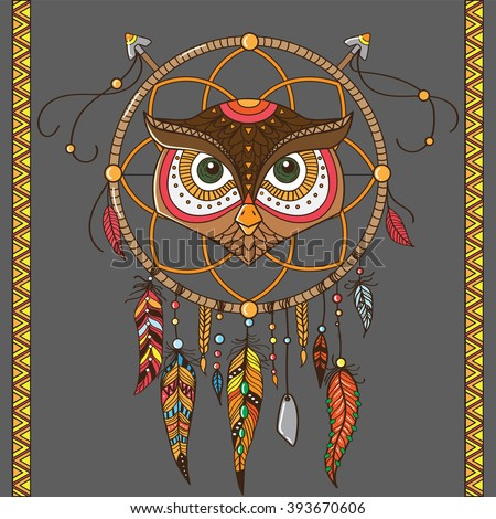 dream catcher with owl boho