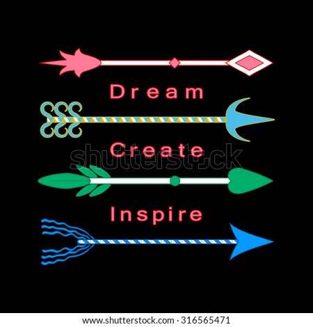 dream  create  inspire concept