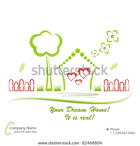Dream home, vector illustration - stock vector