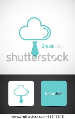 Dream jobs, conceptual icon such logo with business card templates