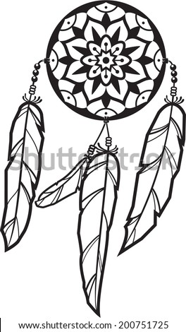 dreamcatcher is isolated on