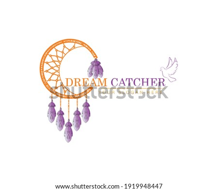 dreamcatcher with dove and
