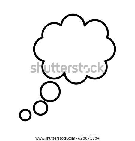 dreams cloud isolated icon
