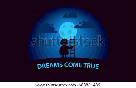 dreams come true child with a