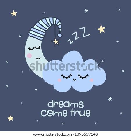 dreams come true   cute moon
