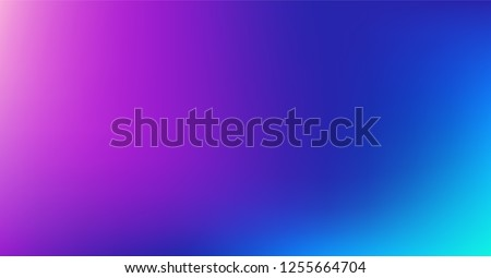 Dreamy Blue Purple Vibrant Gradient Vector Background. Color Overlay,