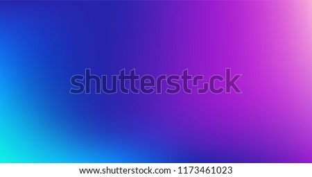 Dreamy Blue Purple Vibrant Gradient Vector Background. Sunrise, Sunset, Sky, Water Color Overlay Neon Design Element. Dreamy Unfocussed Holograph Luxury Texture. Fluid Lights Minimal Digital Gradient