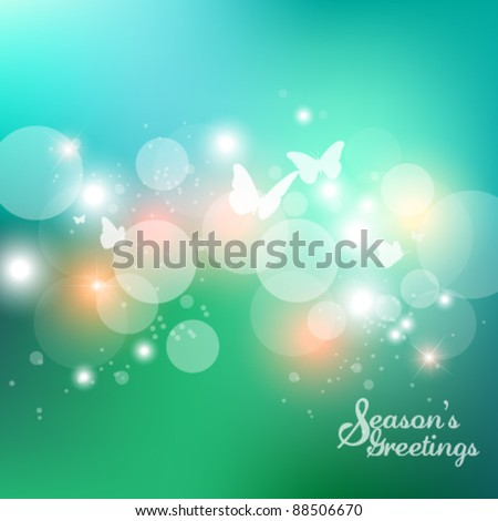 dreamy butterfly vector background design