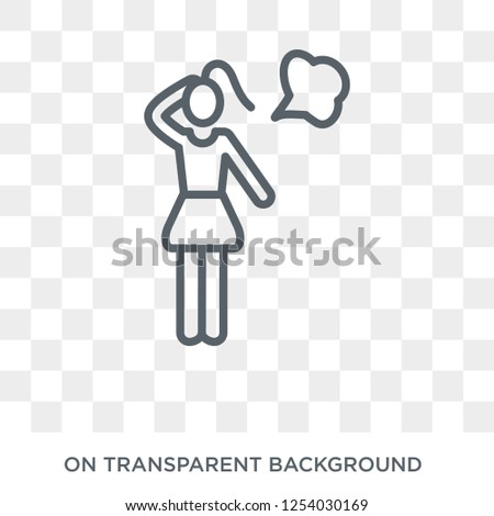 Dreamy girl icon. Trendy flat vector Dreamy girl icon on transparent background from Ladies collection. High quality filled Dreamy girl symbol use for web and mobile