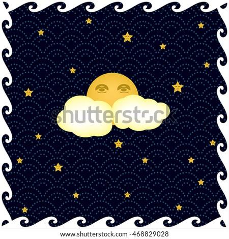 dreamy vintage night sky full