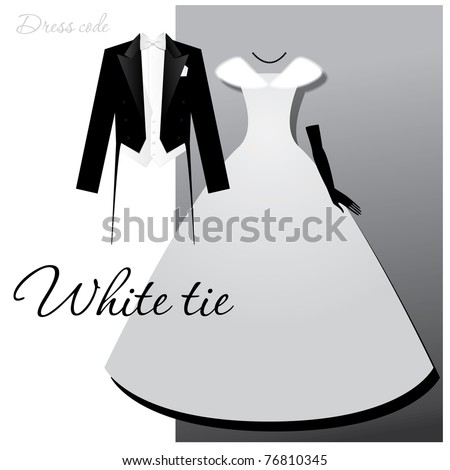 dress code   white tie male