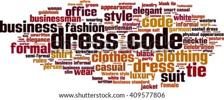 dress code word cloud concept